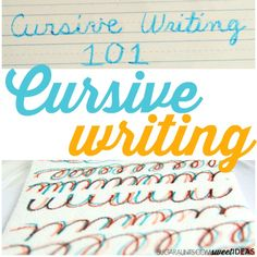 How to teach cursive