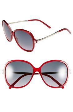 Saint Laurent 58mm Round Sunglasses