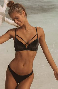 c192b46fab37d Dylan Bralette Top in Black Velvet. Beach Bunny ...
