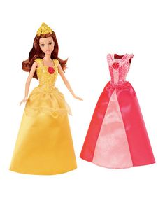 Take a look at this Belle Clip-on Dress Set by Disney on #zulily today!