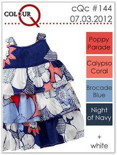 poppy parade, calypso coral, brocade blue, night of navy  colourQ: colourQ challenge #144...