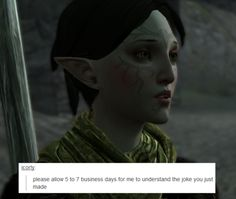 welcome to the mage hell spiral — Dragon Age II + text posts – Merrill (part . Dragon Age Memes, Dragon Age Funny, Dragon Age 2, Merrill Dragon Age, Shovel Knight, Grey Warden, Fandom Games, Dragon Age Inquisition, Elder Scrolls