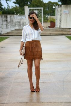 I love Fita Métrica: Fringes Skirt