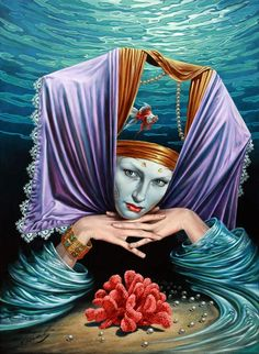Michael Cheval - Profundity Keeper, 2010  (Eernity of Absurdity); oil on canvas