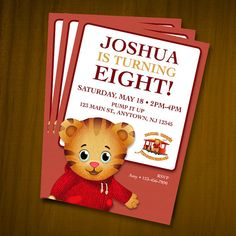 Daniel Tiger Birthday Invitations / Digital by anthonypingicer, $9.00