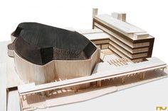 Alvar Aalto: House of Culture, 1952-1958,  model, Sturenkatu, Helsinki, Finland