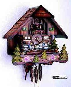 Chalet Cuckoo Clocks Cuckoo Clock 1-day-movement Chalet-Style 40cm by Hekas