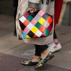 @loewe Colourful bag @gucci shoes from #tbilisifashionweek photo by @jaiperdumaveste @thecut #accessorysalad #streetfashion #streetstyle #fashion #cool #trend #wardrobe #moda #shoes #ayakkabi #canta #loveit #streetlook #blogger #fashionweek #luxurystyle #luxuryfashion #fashionblogger #tfw #tbilisi #gucci #guccishoes #loewe