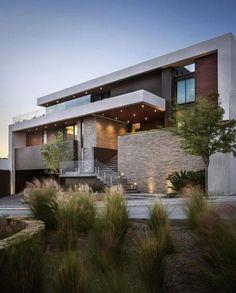 49 Most Popular Modern Dream House Exterior Design Ideas 6 – House Design Dream House Exterior, House Exterior Design, Facade Design, Facade House, Farmhouse Chic, Farmhouse Stairs, Farmhouse Furniture, Modern Exterior, House Goals