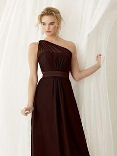 A-line One-shoulder Chiffon Bridesmaid Dress