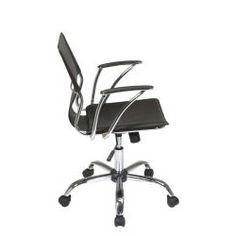Office Star Dorado Office Chair with Fixed Padded Arms and Chrome Finish | Overstock.com Shopping - The Best Deals on Task Chairs