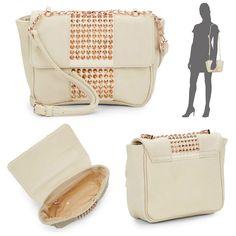 Deux Lux Nomad Messenger Mini Cross Body Shoulder Bag Studded Faux Leather