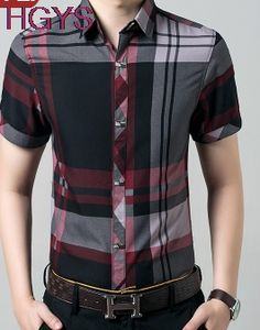 >> Click to Buy << new summer 2017 men plaid short-sleeved shirt Cultivate one's morality fashion casual shirt #Affiliate