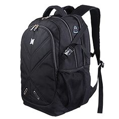 Lifewit Shockproof 156 Laptop Backpack with Rain Cover Large Carry on Computer Bag for Men Black -- More info could be found at the image url. Note:It is Affiliate Link to Amazon.