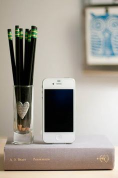 Cool iPhone charger created from an old novel!