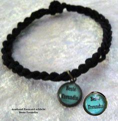 """*schlichtes Armband """"Beste Freundin"""" Paracord  von Kreawusel-Schmuck  auf DaWanda.com"""