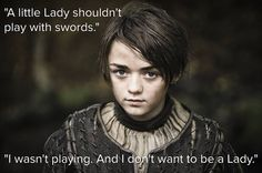 Arya Stark in A Song of Ice and Fire. She's my second favorite in GoT behind Daenerys.
