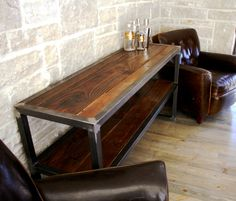 Table made from reclaimed wood by Yendrabuilt on Etsy.