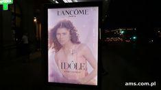 Lancome z drukiem soczewkowym na nośnikach Premium Citylight od AMS Lancome Paris, Idol, Youtube, Youtubers, Youtube Movies