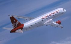 Virgin America in the Sky