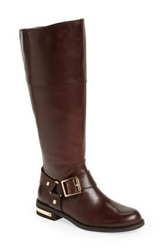 Vince Camuto 'Kallie' Leather Riding Boot (Women)(Wide Calf) available at #Nordstrom ****