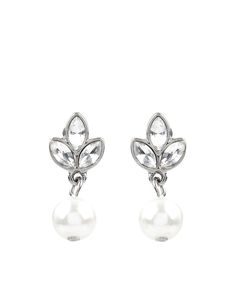 Audrey Classic Pearl Earrings | Nude | Accessorize