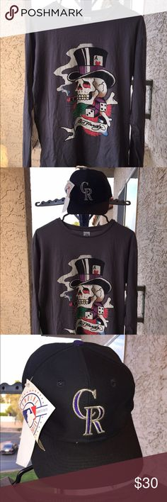 Vintage Ed Hardy Long sleeve Made in USA Size Med. Great Condition! Hat does not come with the shirt. No Returns. Ed Hardy Shirts Tees - Long Sleeve