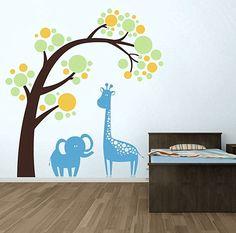 süße-Kinderzimmer-Wandtattoo-Afrika.jpg (600×594) http://deavita.com/dekoration/15-suse-ideen-babyzimmer-wandgestaltung.html