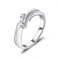 Enthusiastic Bijou Argent 925 Superbe Bague Oxydes De Zirconium Taille 54 Ring Other Fine Rings Jewelry & Watches