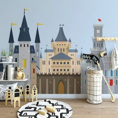 Beibehang Custom modern nordic minimalist children's room background wallpaper mural wall papers home decor papier peint Kids Room Wallpaper, Photo Wallpaper, Of Wallpaper, Children Wallpaper, Château Fort, Simple Cartoon, Paper Houses, Wall Treatments, Child Room