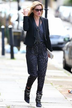 Kate Moss out in London, England - September 30, 2013