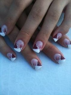 Beautiful nail art designs that are just too cute to resist. It's time to try out something new with your nail art. Nail Art Designs, Fingernail Designs, French Nail Designs, Pedicure Designs, Nails Design, Pink Nail Art, Gel Nail Art, Marion Nails, Nagel Hacks