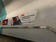 Impression d'affiche pour mobilier urbain dans une station de métro à Paris (75). #identitevisuelle #impressionnumerique #communicationvisuelle #publicite #adhesif #decoupe #conception #wecomparis #madeinfrance #communication #imagedemarque #sign #agencement #printing #affichageurbain Made In France, Magazine Rack, Paris, Storage, Home Decor, Visual Communication, Street Furniture, Brand Management, Billboard