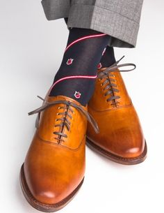 Dapper Classics Navy with Crest Linked Toe Sock