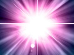 Bright light with pink