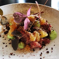 Beef tartare at Aamanns in Copenhagen from The World According to Mitzie Mee blog