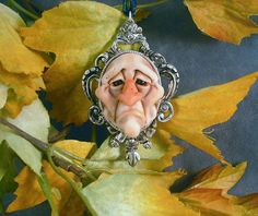 OOAK Pendant Autumnthing Goth Oddfae Sculpture by oddfae on Etsy, $50.00