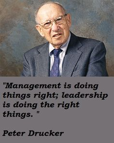 http://www.energizing-leadership.com/ Management is doing things right; leadership is doing the right things.