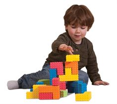 Sensory Puzzle Blocks ~ Inner Link them together or puzzle them on a flat surface!  Textured foam blocks.