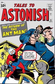 For sale marvel comics tales to astonish 35 second antman first costume jack kirby artwork steve ditko don heck key silver age comic book emorys memories. Rare Comic Books, Vintage Comic Books, Comic Book Covers, Comic Book Characters, Vintage Comics, Comic Books Art, Comic Art, Book Art, Marvel Characters