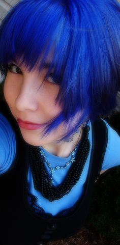 @Lindy ... we've seen the green and the pink hair so here it is in blue!
