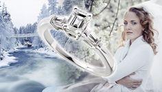Diamond-me Three-Stone Engagement Ring - http://www.engagement-rings-info.org/emerald-cut-engagement-rings/