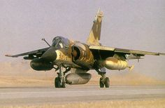 French Air Force Dassault Mirage during Operation Desert Storm Military Jets, Military Aircraft, Fighter Aircraft, Fighter Jets, Photo Avion, South African Air Force, Dassault Aviation, Battle Rifle, F 1