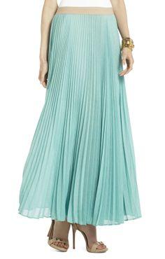 Mint pleated skirt