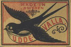 vintage matchboxes: MADE IN SWEDEN