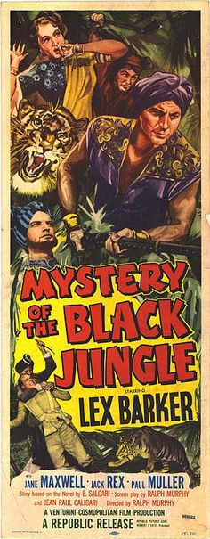Mystery Movie Posters | MYSTERY OF THE BLACK JUNGLE POSTER ]