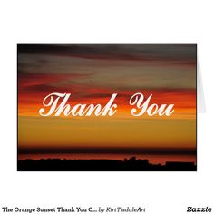 The Orange Sunset Thank You Card