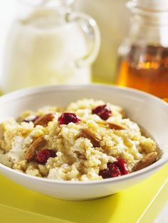 If you're into hot cereal, I highly recommending trying this recipe for Hot Millet and Amaranth Cereal, from The Complete Gluten Free Whole Grain Cookbook by Judith Finlayson, and published . Healthy Sweets, Healthy Breakfast Recipes, Healthy Recipes, Healthy Foods, Vegan Gluten Free, Gluten Free Recipes, Granola Cereal, Raw Vegan, Food Hacks