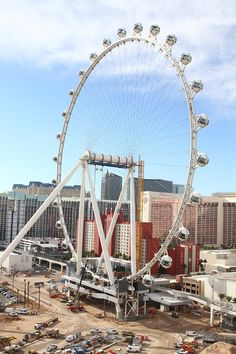 Linq Ferris Wheel in Las Vegas, the world's tallest observation wheel.