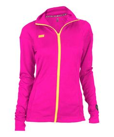Another great find on #zulily! Pink Glo Piqué Zip-Up Jacket by Soffe #zulilyfinds
